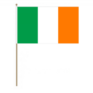 Ireland Country Hand Flag, large.